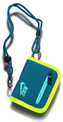 NIKE ナイキ コーポレート ロゴ ウォレット NEA42 (300グリーンアビーズ/ボルト/タイドプールブルー)