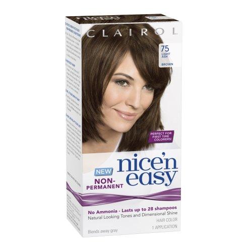 Clairol Nice 'N Easy Non-Permanent Hair Color 75 Light Ash Brown 1 Kit