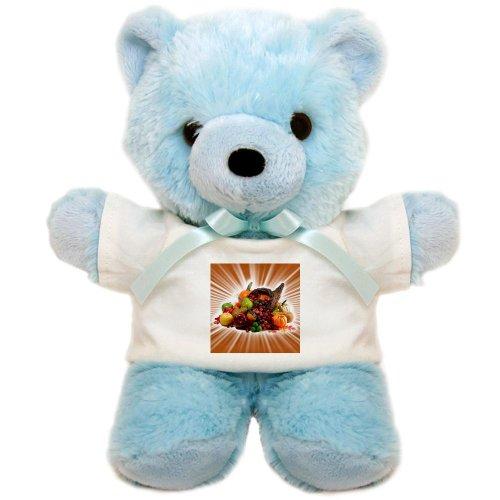 Teddy Bear Blue Thanksgiving Cornucopia