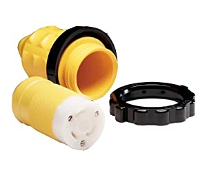 Buy Marinco 305CRCN.VPK Marine Electrical Connector and Boot Value Pack (30-Amp, 125-Volt, Female) by Marinco