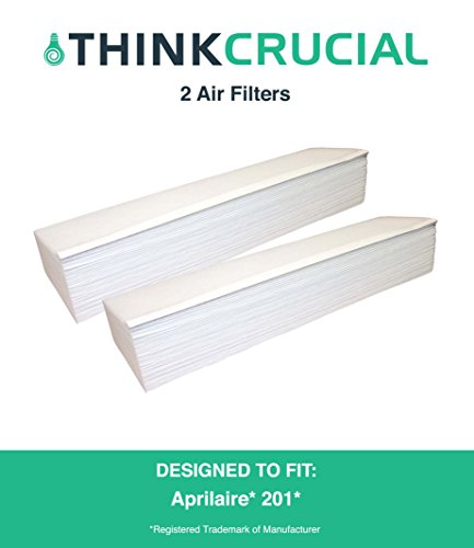 2 Aprilaire 201 Replacement Air Filters Fit Space-Gard / SpaceGard 2250 & 2200, Designed & Engineered by Crucial Air