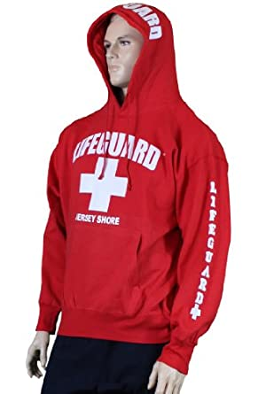 Amazon.com Lifeguard Jersey Shore NJ Life Guard Sweatshirt Red Clothing