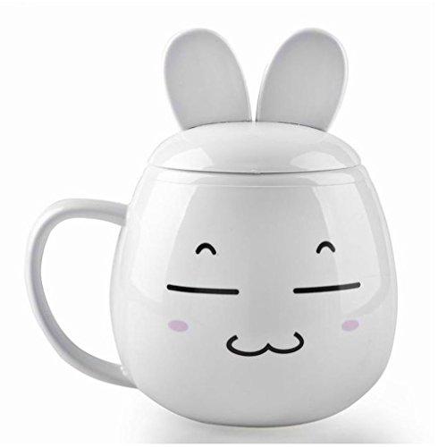 Ariic Cute Usb Coffee Cup Powered Tea Beverage Mug Warmer Heater Rabbit Squint