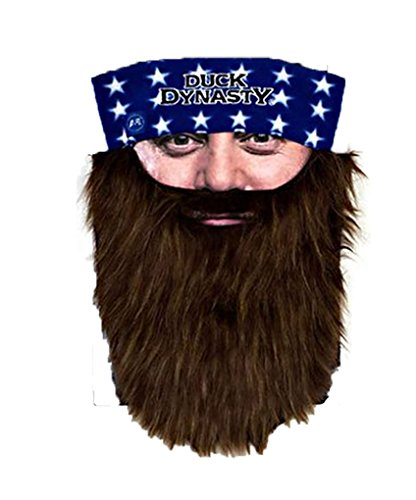 Duck Dynasty Bearded Bandana Willie - Brown Beard - 1