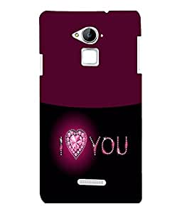 printtech I Love You Heart Back Case Cover for Coolpad Note 3 Lite