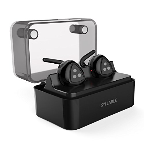 True Wireless Headphones, Syllable D900MINI Wireless Bluetooth Headphones In-ear Design Sweatproof with Mic for iPhone Smart Phone Bluetooth Devices Come with Intelligent Charging Box