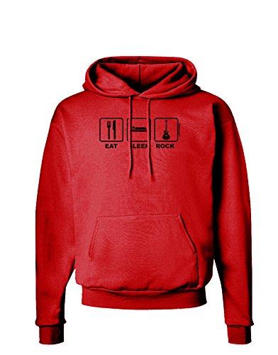 Tooloud Eat Sleep Rock Design Hoodie Sweatshirt - Red - 3Xl
