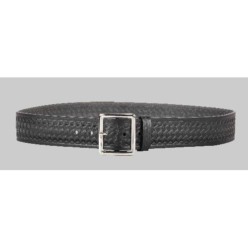 DeSantis Black - Basketweave - Econoline 1 3/4in. Garrison Belt - Brass Buckle E21BL42Z2