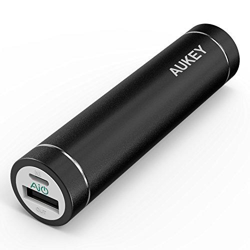 (オーキー)Aukey AIPower 超小型3000mAhモバイルバッテリー スマホ充電器 iPhone/Androidスマートフォンを充電可能 (ブラック)PB-N23