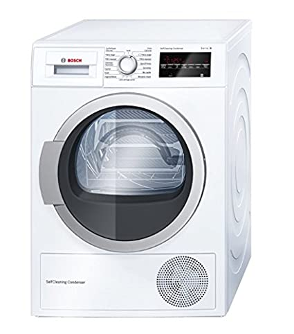 Bosch Serie | 6 WTW87460FF Autonome Charge avant 8kg Blanc - sèche-linge (Autonome, Charge avant, Pompe à chaleur, A++, Blanc, B)