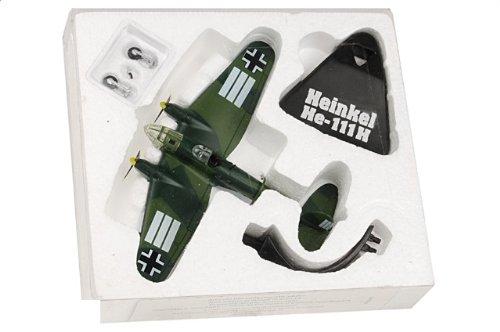 1:144 De Agostini 飛行機 223075 Heinkel He 111H-3 ダイキャスト モデル Luftwaffe KG 53 Battle of Britain 1940【並行輸
