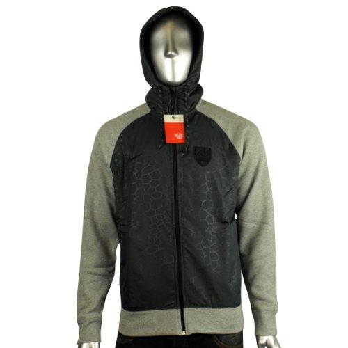 Mens Nike Athletic Grey Fleece Hoody Full Zip Hoodie Hooded Sweater Size XL