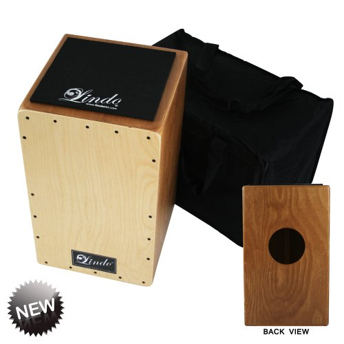 Lindo Platanus Hispanica and Beech Wood Spanish Cajon Drum with Adjustable V-Snare/Padded Carry Case