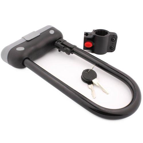 tuff bro heavy duty 14mm u bar bike lock anti theft bicycle u lock with mount bracket 2 keys b. Black Bedroom Furniture Sets. Home Design Ideas