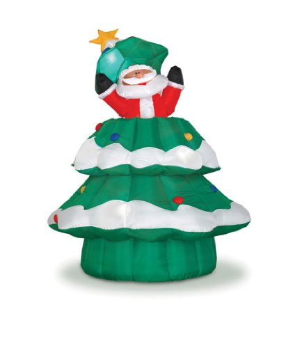 Gemmy Industries 82952 Large Animated Santa Christmas Tree 6'