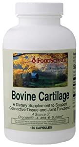 Food Science Labs - Bovine Cartilage, 500/165 , 180 capsules