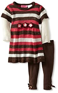 Young Hearts Baby-girls Infant Two Piece Stripe Sweater Dress Set from Young Hearts