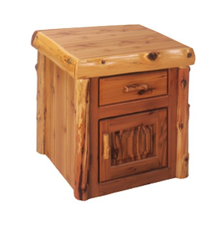 Cheap Enclosed Log End Table (B001KCZJP8)