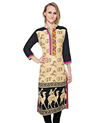 Clickedia Women's Cotton A line long Kurta- XL