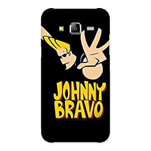 Enticing Brave Black Back Case Cover for Samsung Galaxy J5
