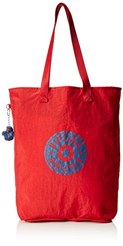 Kipling Hip Hurray 5, Shopper Donna, Rosso (REF35J Vibrant Red), 40.5x40.5x14.5 cm (B X H X T)