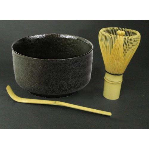 Find Bargain Tea Ceremony Set Bowl and Whisk Grey/Black