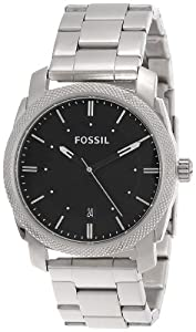 Fossil Machine Three Hand Stainless Steel Watch Fs4773