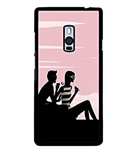 Boy and a Girl 2D Hard Polycarbonate Designer Back Case Cover for OnePlus 2 :: OnePlus Two :: One +2