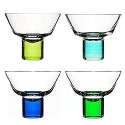 Sagaform Club Martini Glasses (Set of 4) - Blue/Green