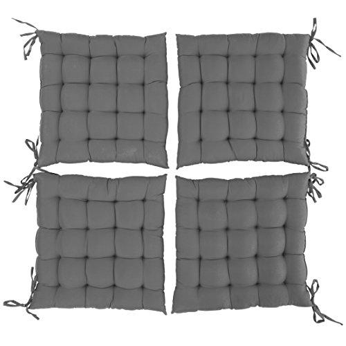 Levivo Cuscini Imbottiti per Sedie in Set da 4, Cuscini per Sedie / da Giardino, Ca. 40 X 40 X 5 cm