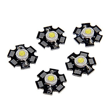Zaki1W High Power Cool White Color Led Module With Aluminum Pcb (3.0-3.4V,5Pcs)