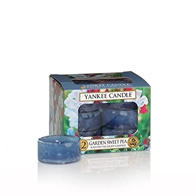 Yankee Candles Tea Lights (12 x Garden Sweet Pea) from Yankee Candles