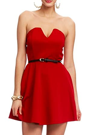 2B Code Red Scuba Sweetheart Dress 2b Night Dresses Red Hot-s