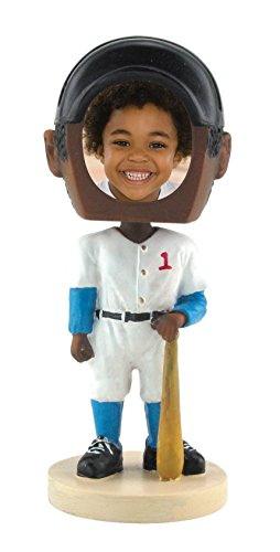 Baseball Photo Bobble Head - Dark Skin Tone
