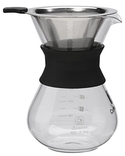 Best Coffee Maker With Paper Filter : BEST Pour Over Coffee Maker For Perfect Drip Coffee. 1-2 Cup 10z Carafe by Coffee Gator with ...