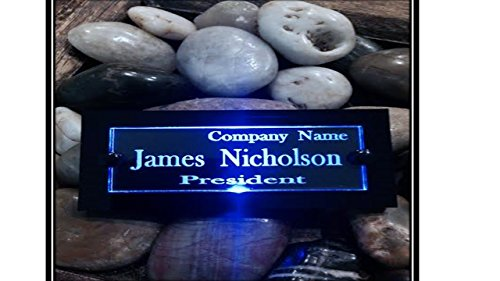 Name Badge In Acrylic And Led Light