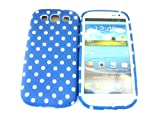 Designer Blue Dots Shabby Chic Vintage SAMSUNG GALAXY S3 I9300 Tpu soft gel case/cover