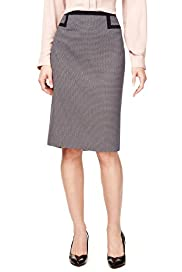 Knee Length Tipped Pencil Skirt