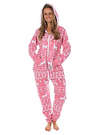 Ugly Christmas Sweater Party - Fair Isle Pink Adult Jumpsuit Size L