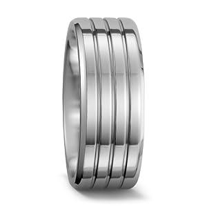 Partnerring Kobalt, Materialstärke: 2.7 mm, Oberfläche: poliert, Ringbreite: 9 mm Grösse 62