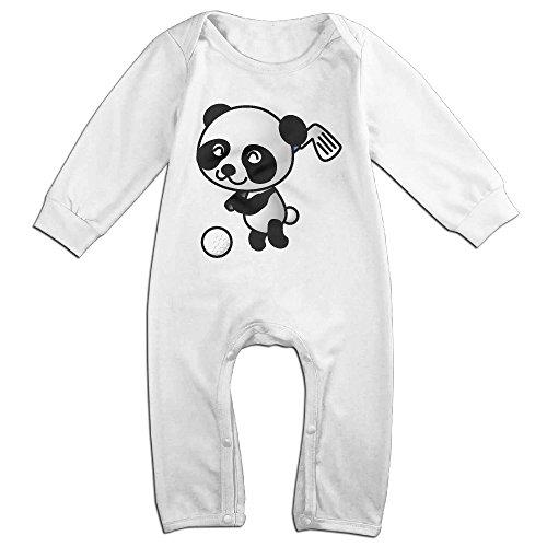 Posit-Babys-Golf-Panda-Boys-Girls-Kids-Creeper-Romper-Bodysuits-Jumpsuits-Size-US-White