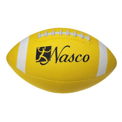 Nasco PE02691E Junior Size 3 Football, Yellow, Grades 5+