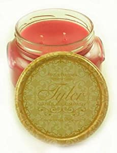 Prestige Collection 22oz Two Wick Tyler Candle - Frosted Pomegranate Scent