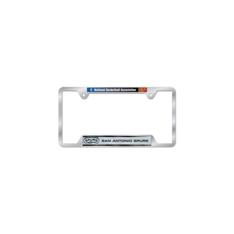 San Antonio Spurs Metal License Plate Frame Sports