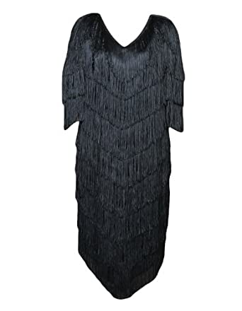 Amazon.com: Deluxe Plus Size Roaring 20's Flapper Theatrical Quality