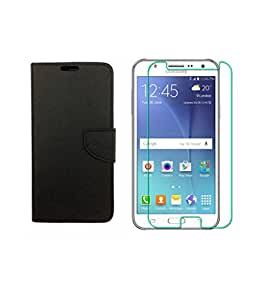 ZEDAK FLIP COVER BLACK WITH TEMPERED GLASS FOR SAMSUNG GALAXY ON5 PRO