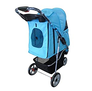 YOOKI P-08BL Single Pet Stroller, Blue