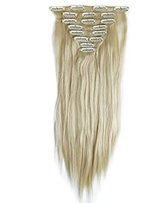 8 pieces curly straight hair extension