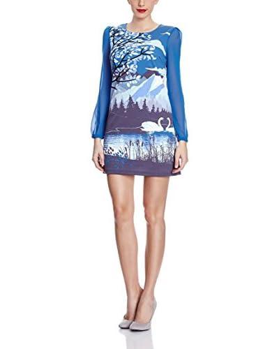 Yumi Kleid Trees And Swans Tunic blau