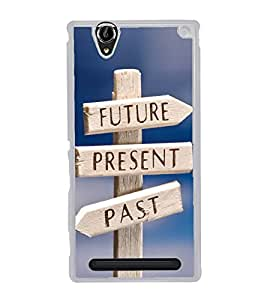 Life Direction Sign Board 2D Hard Polycarbonate Designer Back Case Cover for Sony Xperia T2 Ultra :: Sony Xperia T2 Ultra Dual SIM D5322 :: Sony Xperia T2 Ultra XM50h